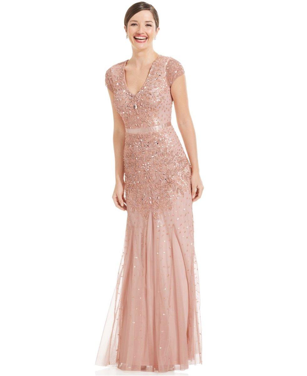 Vestido largo color rosa palo