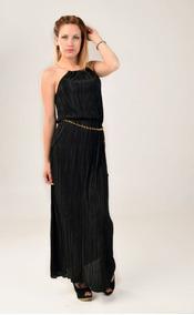 Cadena De Maluma Vestidos De Mujer Largo Negro En Mercado