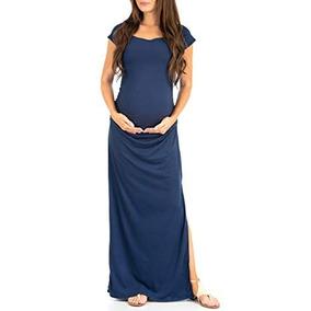 b21fa0421201 Vestidos De Trucco - Vestidos de Mujer Casual Largo Azul petróleo en ...