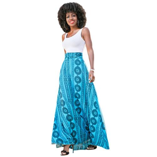 vestido largo casual estampado estilo indie moda juvenil