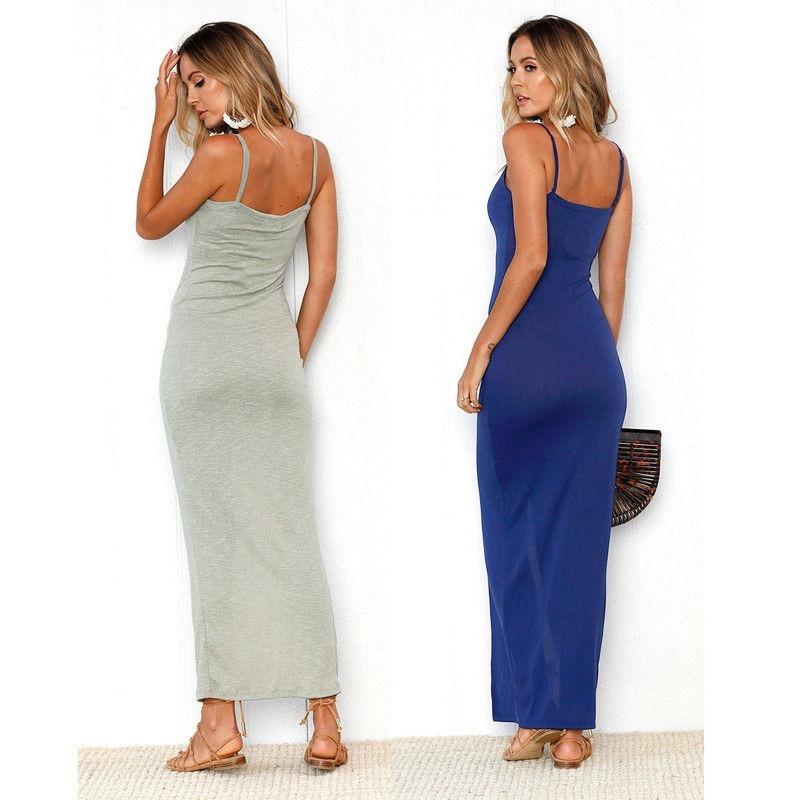 f71e21ea4 vestido largo casual vestidos vestidos largos casuales. Cargando zoom.
