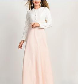 5b1f69edf Vestido Largo Coctel Color Rosa Pastel