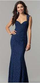 22c50f77f Vestido Noche Largo Color Azul Marino - Vestidos De noche Largo de ...