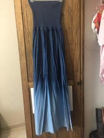 Vestido Largo Color Mezclilla