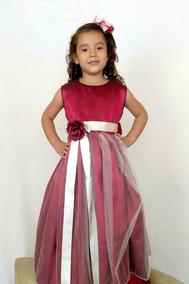a5e45b6d6 Vestidos De Niña Elegantes Color Vino en Mercado Libre México