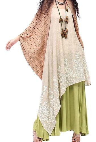 vestido largo con diseño floral para mujer a la moda