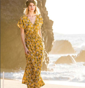 7bcf41897 Vestidos Flores Largo Largos Mujer Durango - Vestidos Amarillo en ...