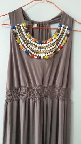 vestido largo con pedrería talla única nuevo a extrenar