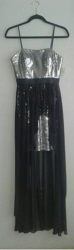 vestido largo-corto graduación