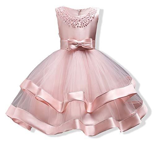 d238b3dc9 Vestido Largo Dama De Honor Fiesta Moño Encaje Para Niñas