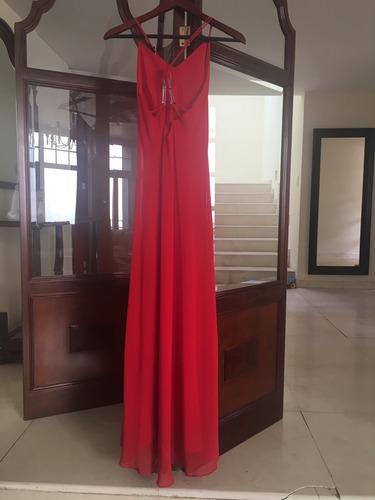 vestido largo dama rojo rue de la paix talla 10
