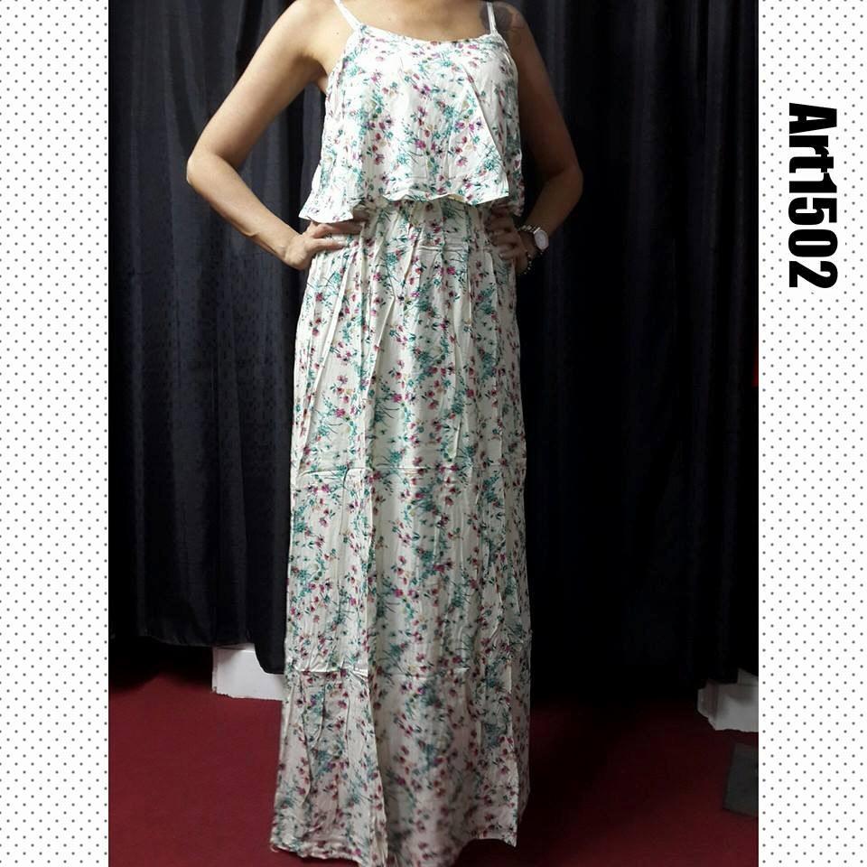 adafcce123d1 Vestido Largo De Fibrana. Mujer.verano 2016