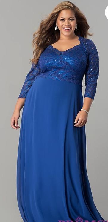 Imagenes de vestidos color azul electrico