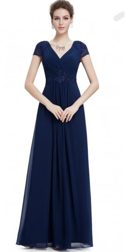 c836d77af Vestido Largo De Fiesta Color Azul Marino Talla 4 -   829.00 en ...