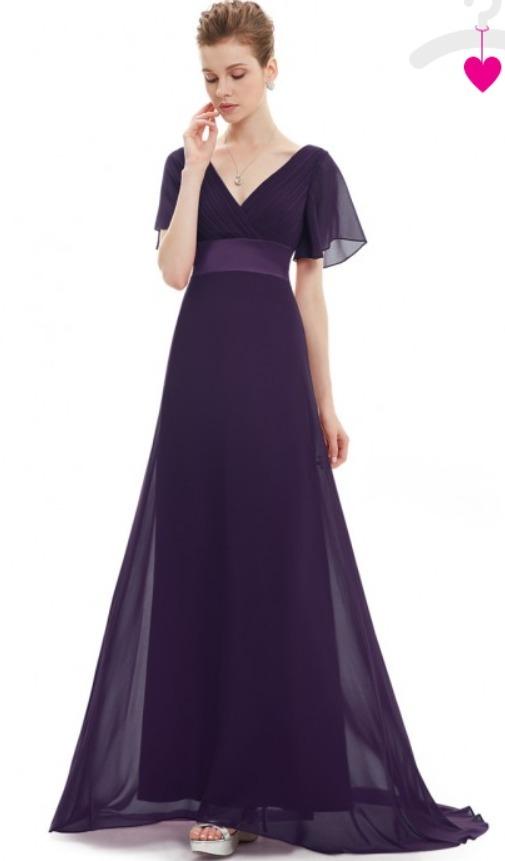estilo actualizado comprar nuevo busca lo mejor Vestido Largo De Fiesta Corte Imperio Mangas De Chiffon