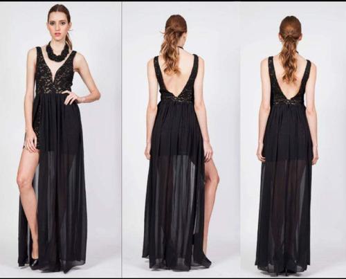 vestido largo de fiesta, encaje, blackdress tienda