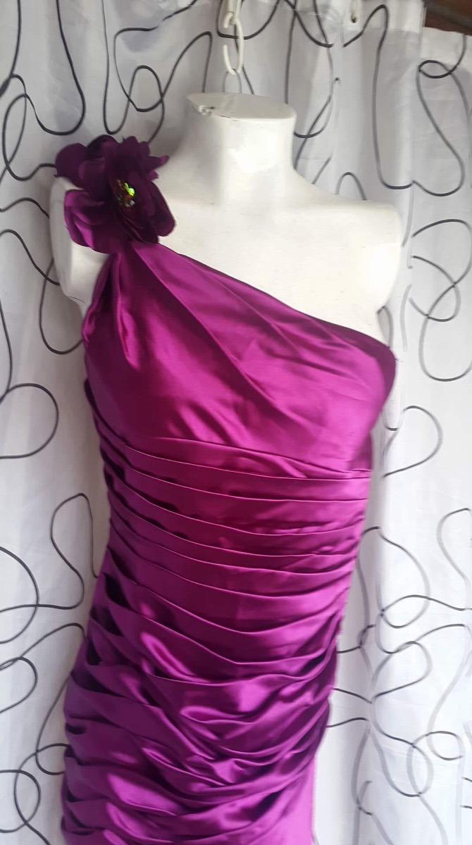 Vestido Largo De Fiesta Largo Con Piedras Color Uva - $ 40.000 en ...