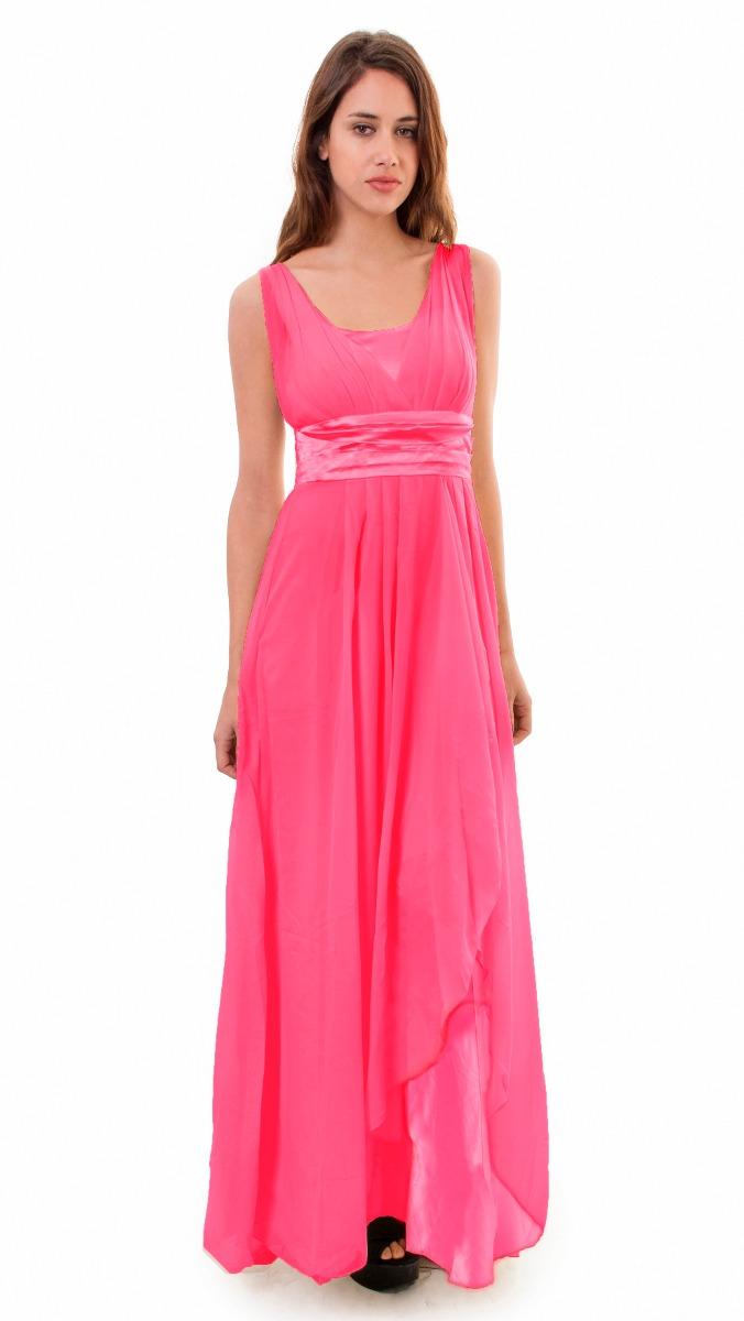 Vestido Largo De Fiesta Noche, Drapeado, Brishka, V-0007 - $ 999,00 ...
