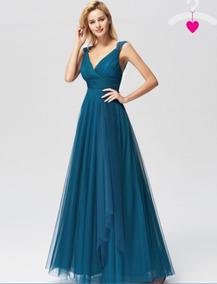 Vestido De Quincea Os Color Azul Turquesa Vestidos Largo