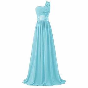 a18b5d2916 Vestidos De Damas Boda Azul Turquesa en Mercado Libre México