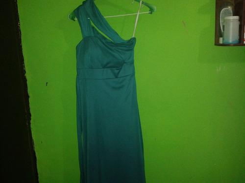 vestido largo de fiesta verde turquesa 20v