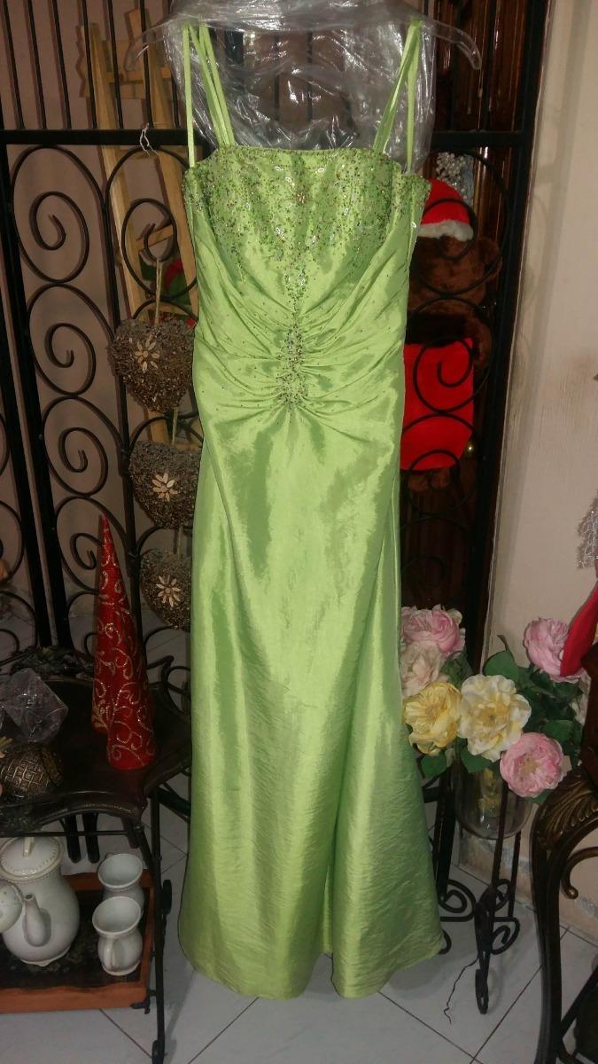 Vestidos de noche color verde limon