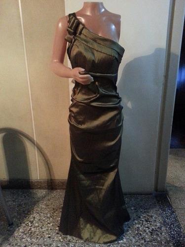 vestido largo de noche de taftan t s y m, espectacular!!