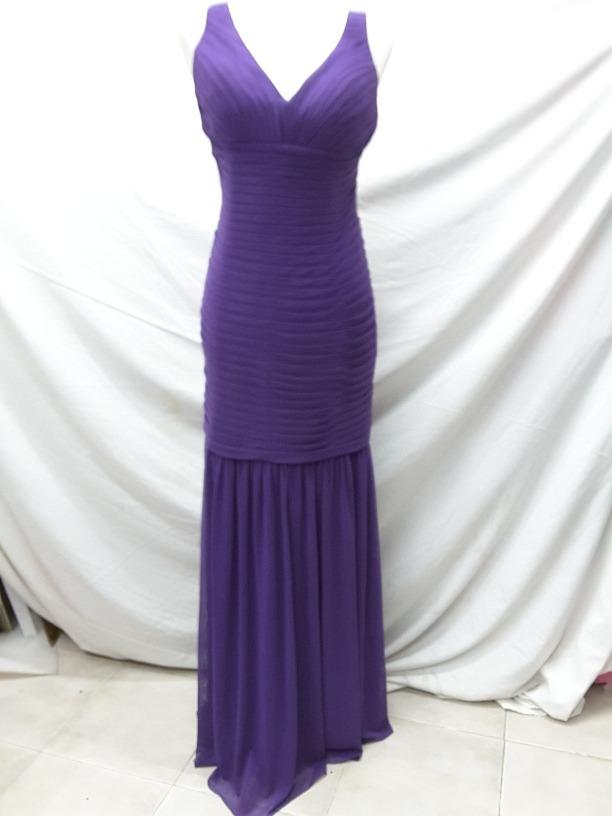 Vestidos de Noche Largos de Mujer Color Primario Violeta en Mercado ...
