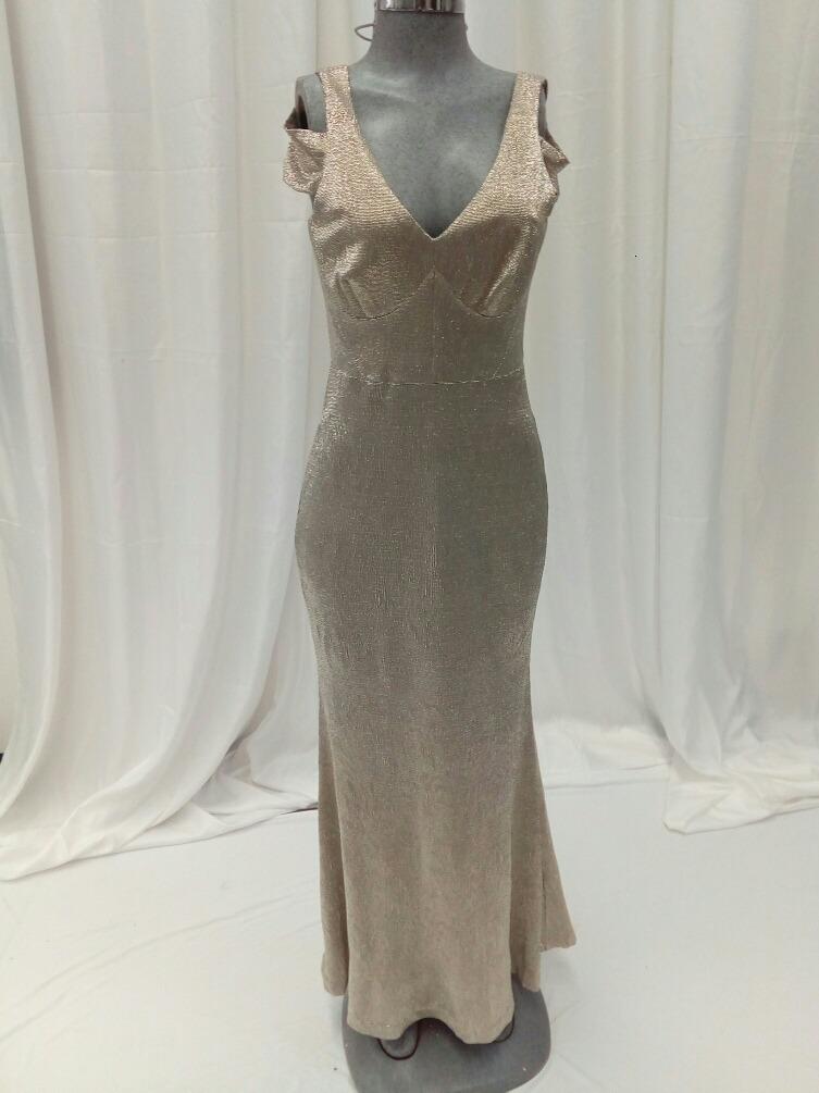 790e194424 Vestido Largo Dorado Calvin Klein. La Segunda Bazar -   4