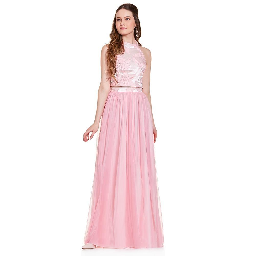 67214623ce vestido largo dos piezas halter floral eva brazzi. Cargando zoom.