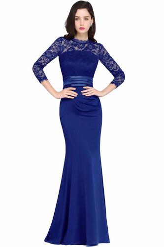 vestido largo elegante para fiesta corte sirena