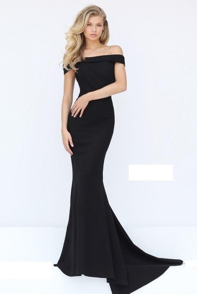 bf00fd968399 Vestido Largo Entallado Cuello Bote Corte Sirena, De Seda