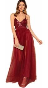 disfruta del mejor precio colores y llamativos desigual en el rendimiento Vestido Largo Escotado Sexy Elegante Fiesta Noche Evento