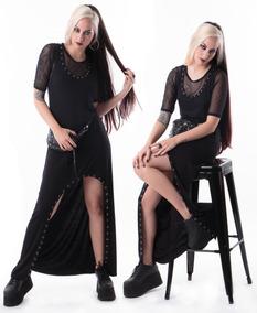 fb11a59b9 Vestido Negro Con Tachas Complot - Ropa y Accesorios en Mercado ...