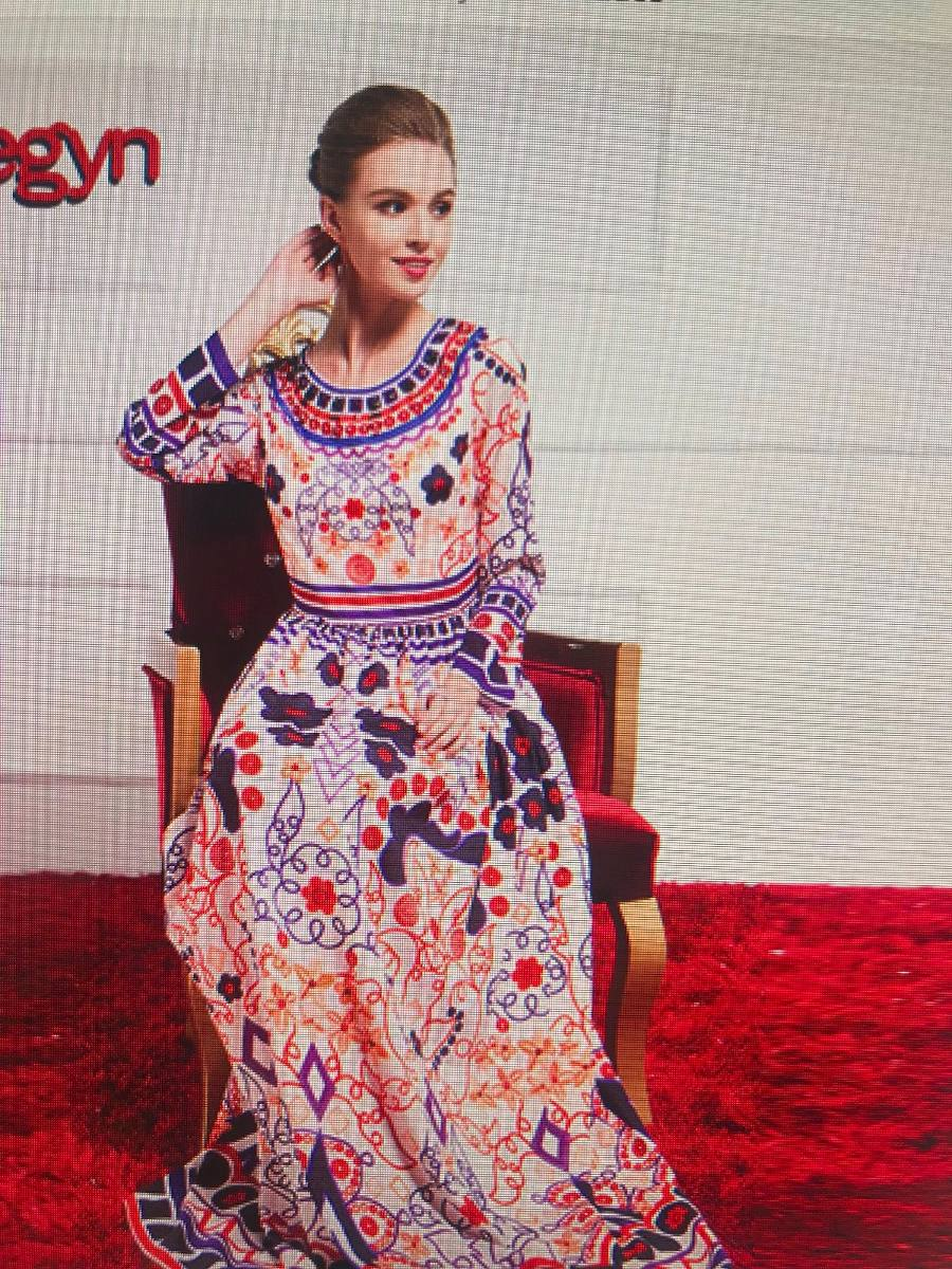 Vestido Largo Estilo Valentino Estampa D&g Dolce Gabbana - $ 1.900 ...