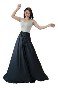 Vestido Largo Falda Circular Con Caída Para Día O Playa 6011