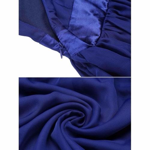 vestido largo fiesta talla extra color azul oscuro no marino