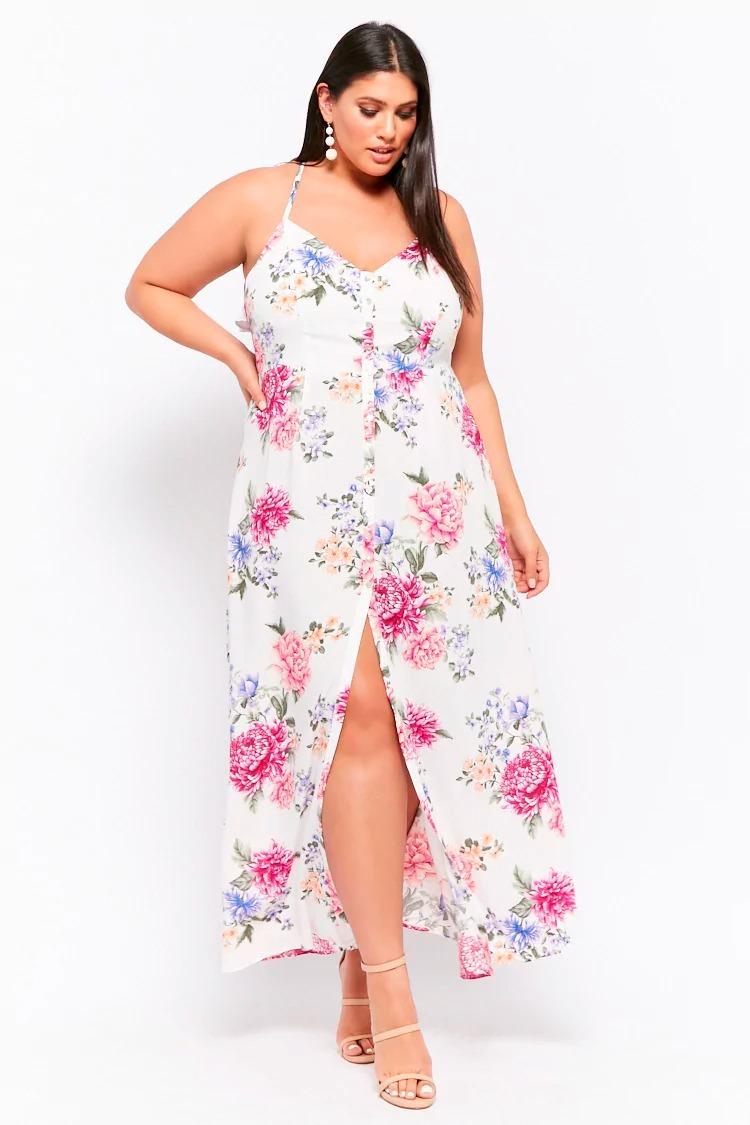 venta más caliente 100% originales bienes de conveniencia Vestido Largo Floral Primavera Verano By Forever 21 2x 3x