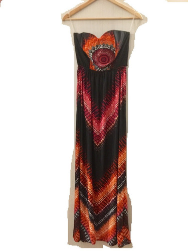 vestido largo forever 21 strapless