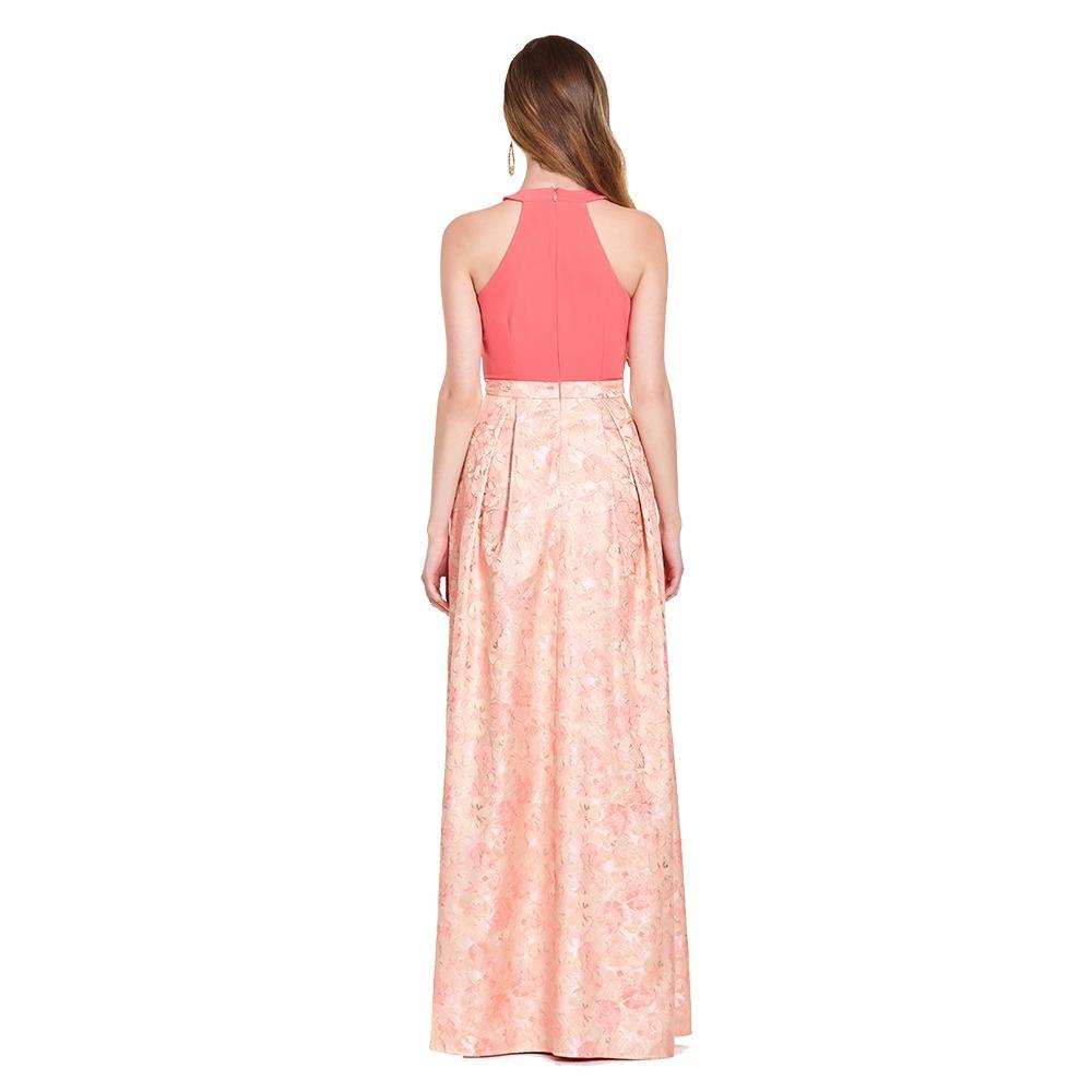 7354c9b83e vestido largo halter floral eva brazzi. Cargando zoom.