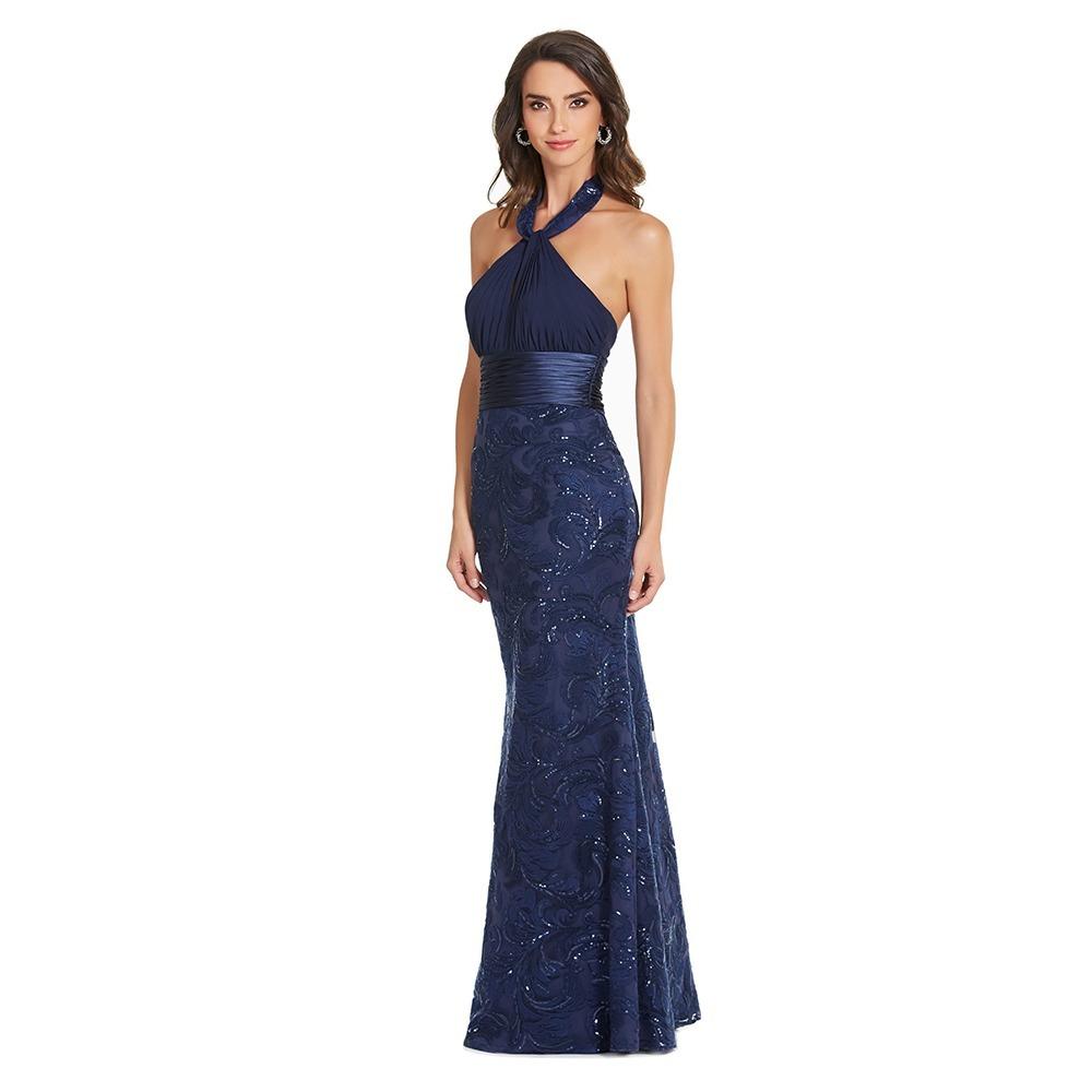 be84739e15 vestido largo halter plisado eva brazzi. Cargando zoom.