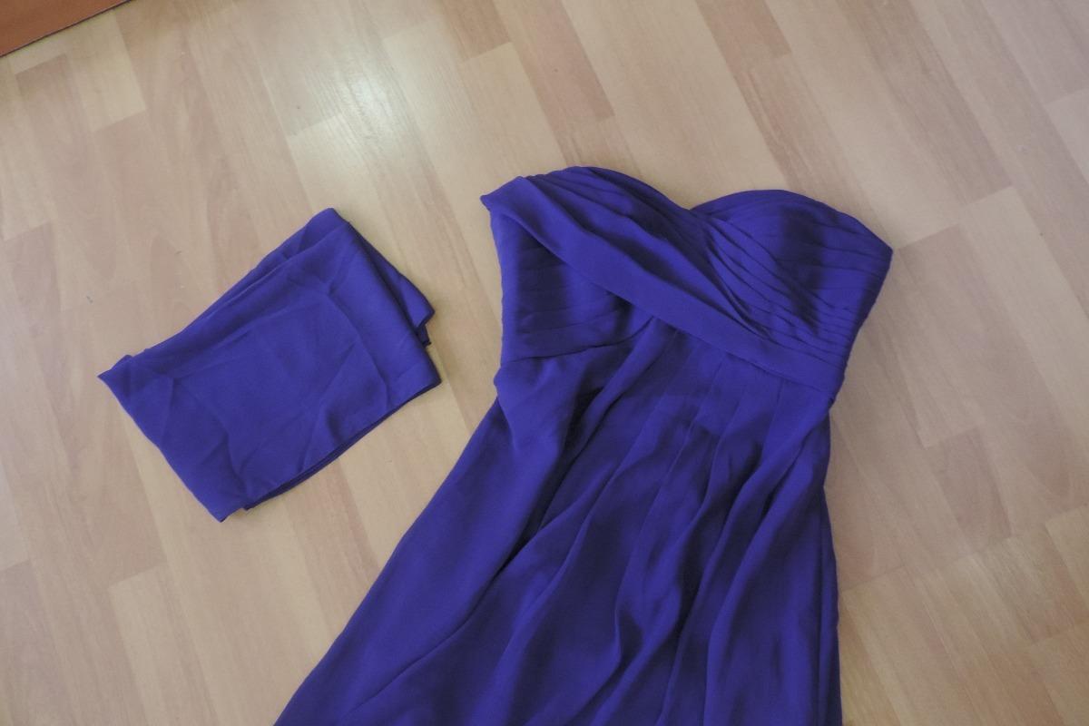 Vestido Largo Hermoso Diseño, Talla S, Color Morado Oscuro - Bs ...
