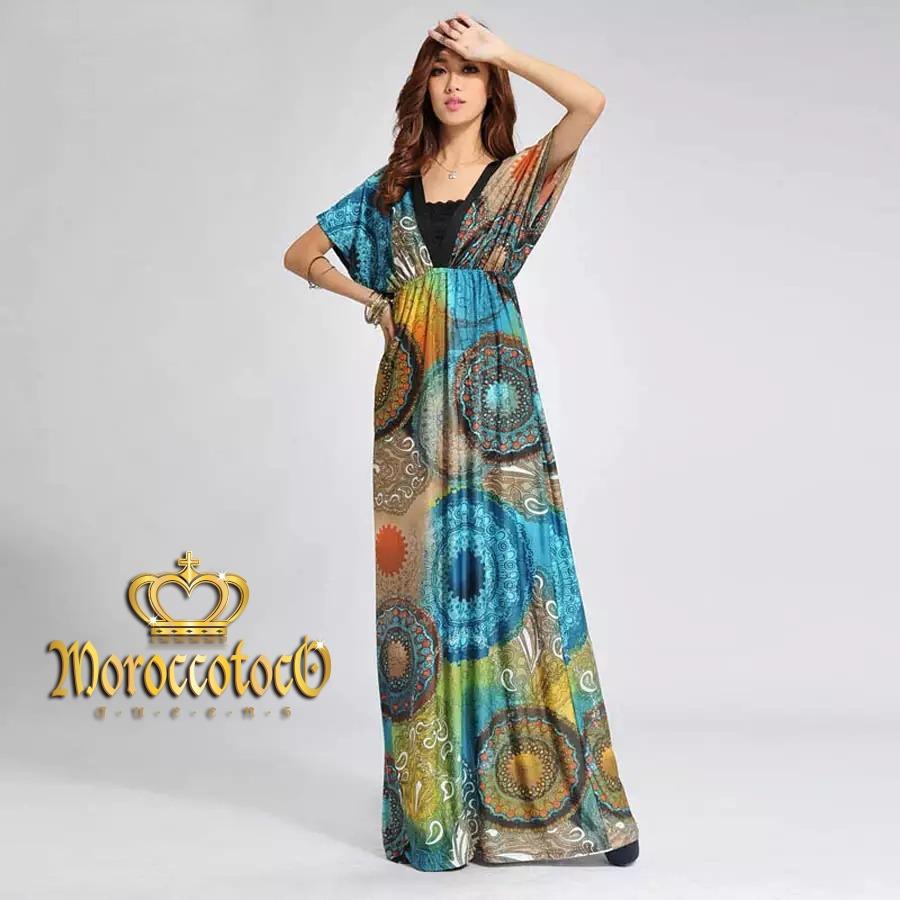 0e10a260c vestido largo kimono estampado talle gde importado art 8186. Cargando zoom.