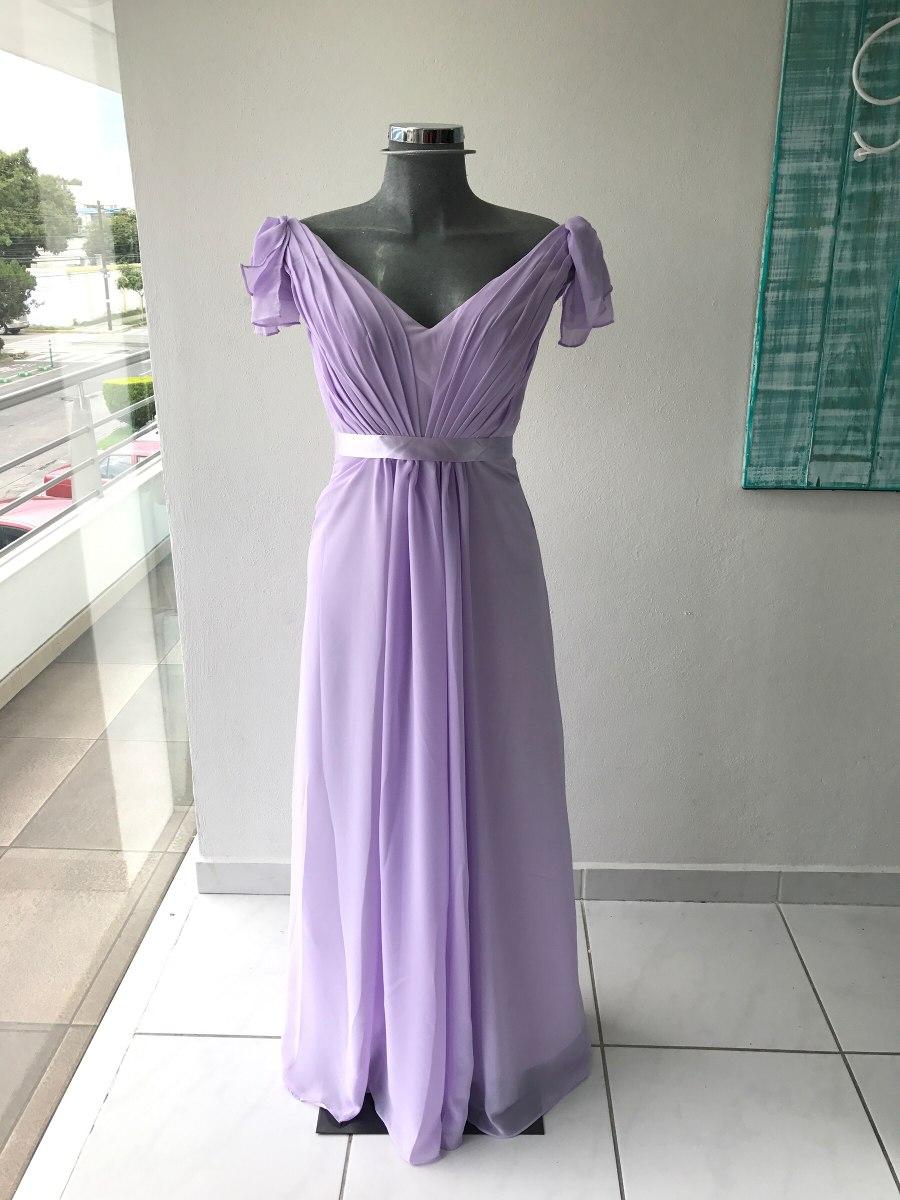 Vestido Largo Lila Dama De Honor Red Carpet Gdl - $ 1,500.00 en ...
