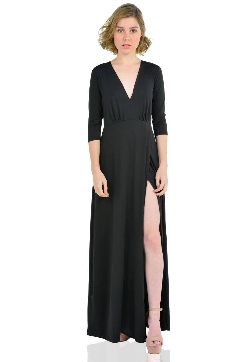 b61b9a49c Vestido Largo Manga Larga De Mujer Aishop Aw172-1117-783 -   154.367 ...