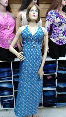 vestido largo materno estampado. t. u. mayor y detal...