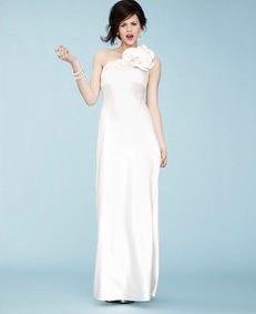 Vestido blanco largo boda civil
