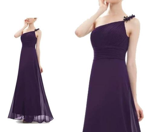 vestido largo matrimonio fiesta - gala elbauldecorina 010156