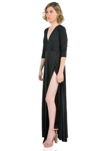 72f7d4010 vestido largo manga larga de mujer aishop aw172-1117-783. Cargando zoom... vestido  largo mujer