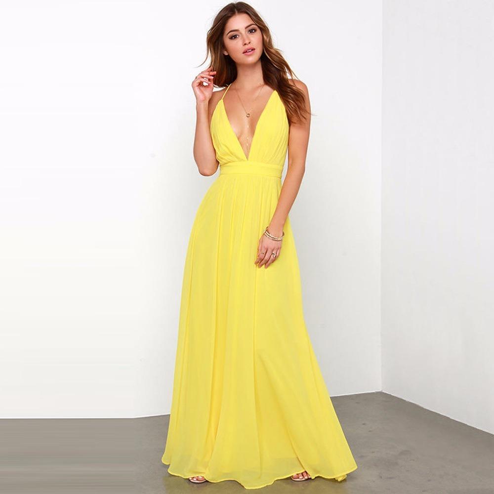 Vestido coctel mujer largo